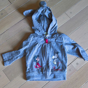 New Peanuts Girl Zippered Hoodie